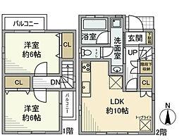 [一戸建] 神奈川県横浜市南区大岡4丁目 の賃貸【/】の間取り