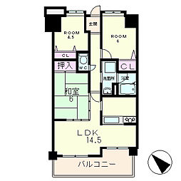 メゾンドール瀬田公園都市2番館[3階]の間取り