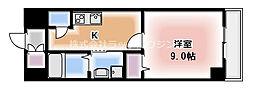 River Side Palace Mai 1階1Kの間取り