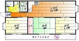 王谷マンション[2階]の間取り