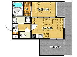 仮)伏見桃山デザイナーズマンション[102号室]の間取り
