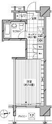 カスタリア麻布十番七面坂[7階]の間取り