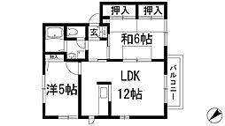 レジデンス松井[2階]の間取り