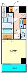 仙台市営南北線 北四番丁駅 徒歩3分の賃貸マンション 8階1Kの間取り