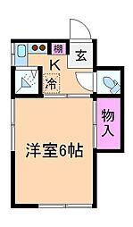 飛鳥荘[1階]の間取り