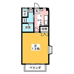 グリーンハイツ三澤パート7[1階]の間取り