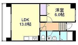 シャインコートチボリ[2階]の間取り