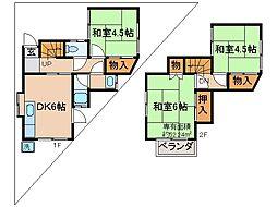 伊勢田駅 4.5万円