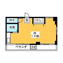 プリンスハイツ第1[2階]の間取り
