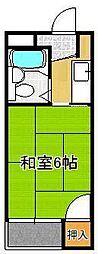 シャトレ藤田 3階1Kの間取り