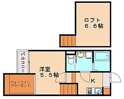 仮)クレオ土井弐番館[1階]の間取り