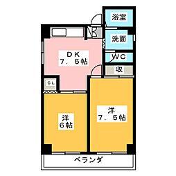柴田マンション[4階]の間取り