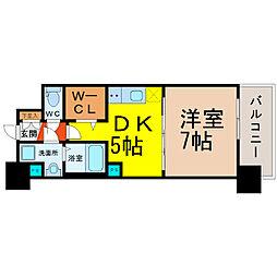 プレサンスジェネ栄[5階]の間取り