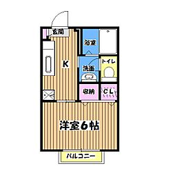 レヨンドソレイユ[2階]の間取り