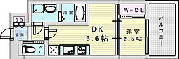 セレニテ三国プリエ 8階1DKの間取り