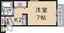 OTOWAマンション[106号室号室]の間取り