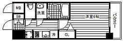 JR片町線(学研都市線) 鴫野駅 徒歩1分の賃貸マンション 3階1Kの間取り