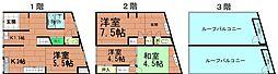 [テラスハウス] 大阪府大阪市港区市岡2丁目 の賃貸【/】の間取り