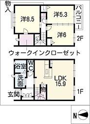 [タウンハウス] 愛知県名古屋市昭和区前山町2丁目 の賃貸【/】の間取り