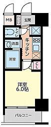 Live Casa本町 15階1Kの間取り