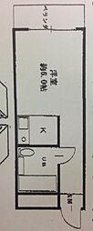 ピュアプレイス[208号室]の間取り
