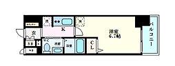 Osaka Metro堺筋線 天神橋筋六丁目駅 徒歩10分の賃貸マンション 3階1Kの間取り