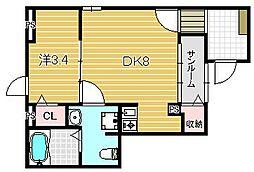 フロッグス リープ[1階]の間取り