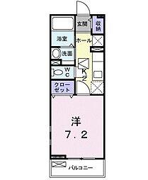 カムヒトウカB[105号室]の間取り
