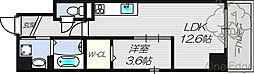 シード・レジデンス 4階1LDKの間取り