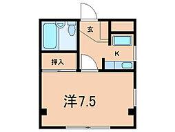 アイビーフラット[2階]の間取り