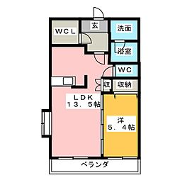 ヒルズレインボー[4階]の間取り