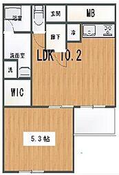 シュロス初台 初台の2006年築高級マンション 駅近でコンビ[4階]の間取り