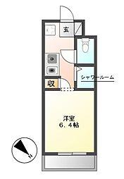 NS ZEAL東別院[3階]の間取り