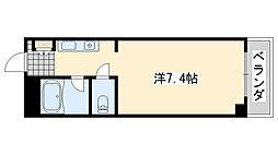 ロンネスト WAVE HOUSE(ウェーブハウス)[206号室]の間取り