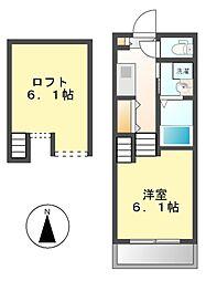 BEAM MEIEKI[1階]の間取り