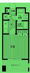 東京都港区三田の賃貸マンションの間取り