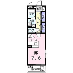 JR山陽本線 福山駅 バス10分 水道局前下車 徒歩3分の賃貸マンション 1階1Kの間取り