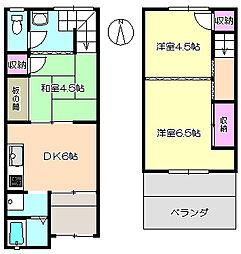 [一戸建] 兵庫県尼崎市次屋2丁目 の賃貸【/】の間取り