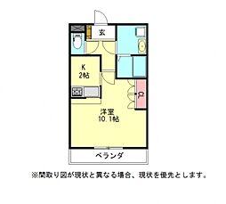 愛知県岩倉市新柳町2丁目の賃貸マンションの間取り