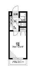 シャトレバレ大山[2階]の間取り
