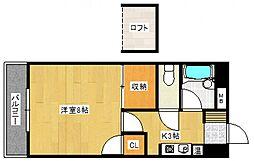 メゾンブランセ[3階]の間取り