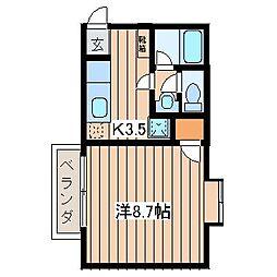 メゾンファミーユ6[103号室]の間取り