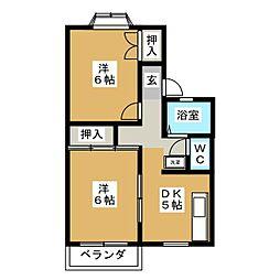 アーバンハイツ C棟[2階]の間取り