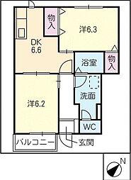 メゾングラシュー[1階]の間取り