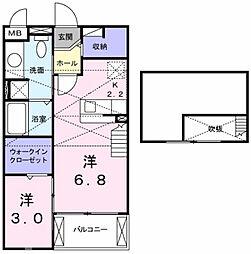 ターナリー伊倉II[2階]の間取り