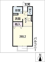 セジュール神谷[1階]の間取り