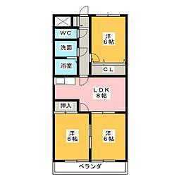 マロンシャンテ[2階]の間取り