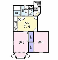 グリ−ン ノ−ト N[1階]の間取り