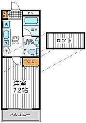 大阪府大阪市阿倍野区昭和町2丁目の賃貸マンションの間取り