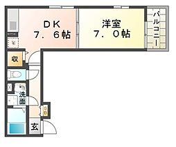 ミクラス[2階]の間取り